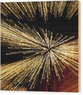 Christmas Lights Zoom Blur II Wood Print
