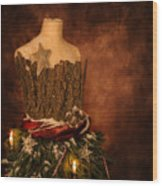 Christmas Mannequin Wood Print