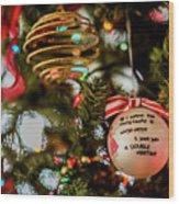 Christmas Martini 4389 Wood Print
