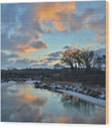 Christmas Morning 2017 In Glacial Park 2 Wood Print