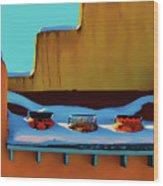 Christmas Morning Taos Wood Print