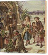 Christmas Morning Wood Print