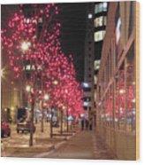 Christmas On Ottawa Street Wood Print by Richard Mitchell