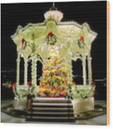 Christmas On The Square Wood Print