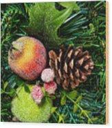 Christmas Ornaments II Wood Print