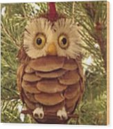 Christmas Owl Wood Print