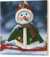 Christmas Party Wood Print