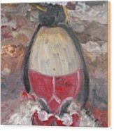 Christmas Penguin Wood Print