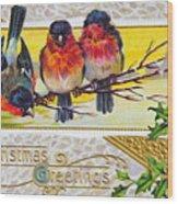 Christmas Postcard Wood Print