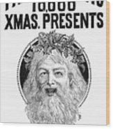 Christmas Present Ad, 1890 Wood Print