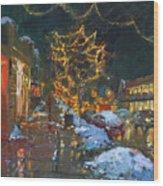 Christmas Reflections Wood Print