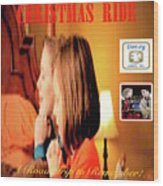 Christmas Ride Family Poster By Karen E. Francis Wood Print
