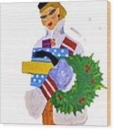 Christmas Shopping - Shop On-line Wood Print