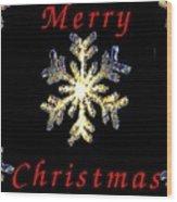 Christmas Snowflakes Wood Print