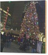 Christmas Spirit Detroit Wood Print