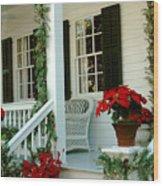 Christmas Spirit In Key West Wood Print