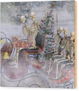 Christmas Spirits Heading To Topsail Island Nc Wood Print