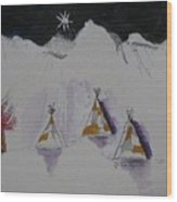 Christmas Teepees Wood Print