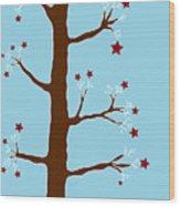 Christmas Tree Wood Print by Frank Tschakert