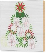 Christmas Tree Wood Print