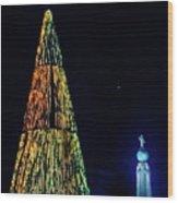 Christmas Tree San Salvador Wood Print