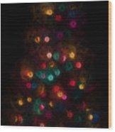 Christmas Tree Splatter Paint Abstract Wood Print