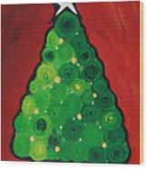 Christmas Tree Twinkle Wood Print