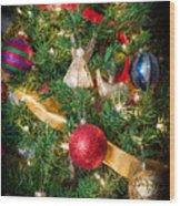 Christmas Tree With Angel 4 Wood Print