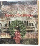 Christmas Truck Wood Print