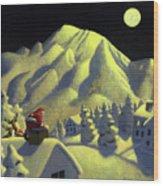 Christmas Under Olympus Wood Print