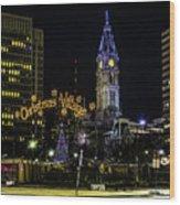 Christmas Village - Philadelphia Wood Print