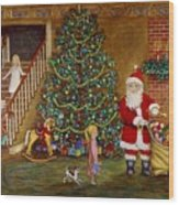 Christmas Visitor Wood Print by Linda Mears