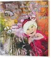 Christmas With My Sheep Wood Print