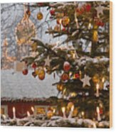 Christmastime At Tivoli Gardens Wood Print