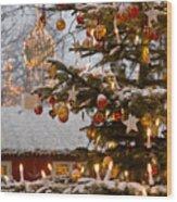 Christmastime At Tivoli Gardens Wood Print by Keenpress