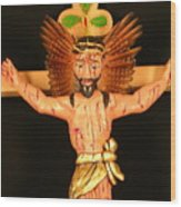 Christo Crucificado Wood Print