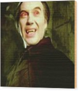 Christopher Lee, Dracula Wood Print