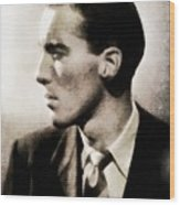 Christopher Lee, Vintage Actor Wood Print