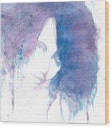 Chromatic Girl Wood Print