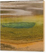Chromatic Pool At Yellowstone Wood Print