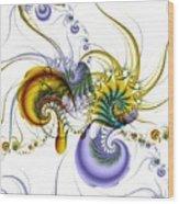 Chromatic Shrimp Wood Print by David April