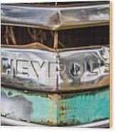 Chrome Chevrolet Wood Print