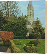 Church Garden Wood Print