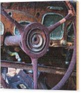 Chrysler Airflow Dashboard Painterly Impression Wood Print