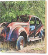 Chrysler Airflow Painterly Expression Wood Print