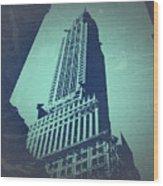 Chrysler Building  Wood Print by Naxart Studio