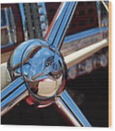 Chrysler Town And Country Steering Wheel Wood Print