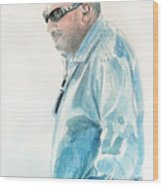 Chubby Chandler Watercolor Wood Print