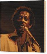 Chuck Berry Gold Wood Print