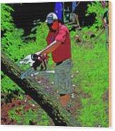 Chuck Chainsaw Wood Print